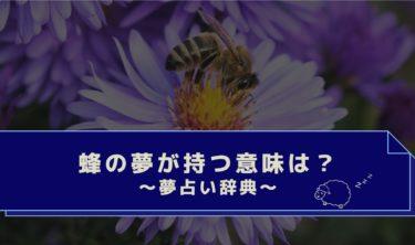 夢占い|蜂に刺された夢は要注意!退治する・逃げる・蜂の夢の意味は?