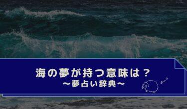 夢占い|海の色は?魚やイルカ・泳ぐ・溺れる・海の夢の意味は?